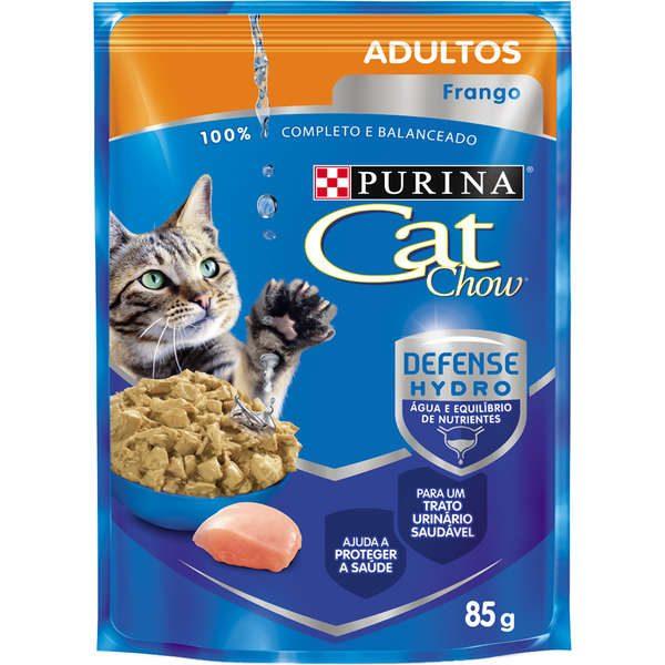 Ração Nestlé Purina Cat Chow Adultos Sachê Frango ao Molho