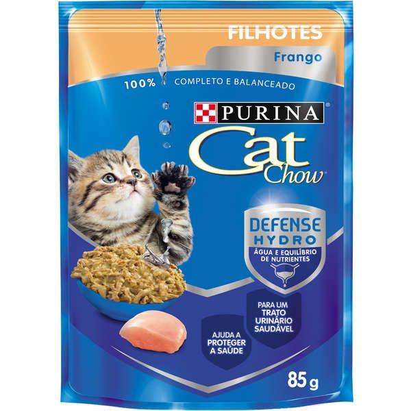 Ração Nestlé Purina Cat Chow Filhotes Sachê Frango ao Molho