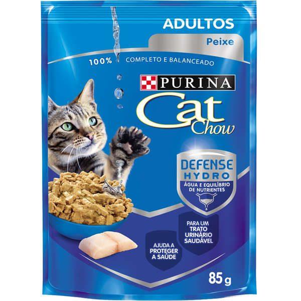 Ração Nestlé Purina Cat Chow Adultos Sachê Peixe ao Molho
