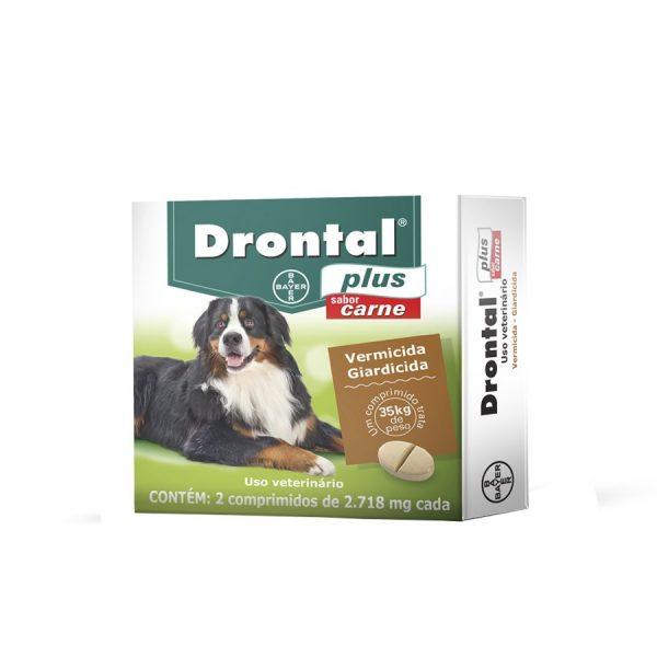 Drontal para Cães Acima de 35kg Sabor Carne (1 comprimido)