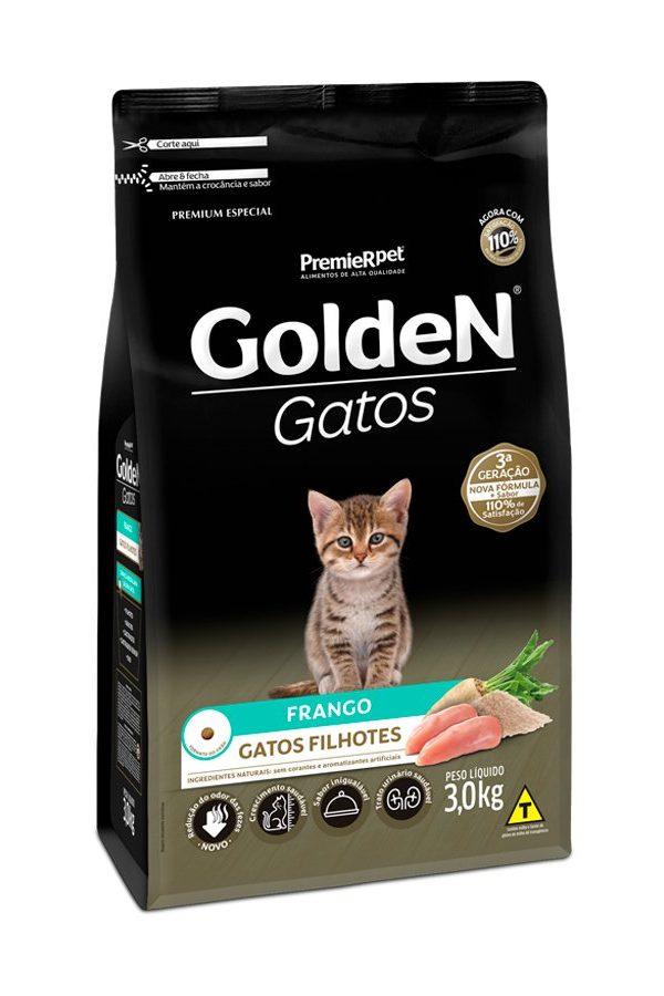 Ração Golden Gatos Filhotes Sabor Frango 3 kg