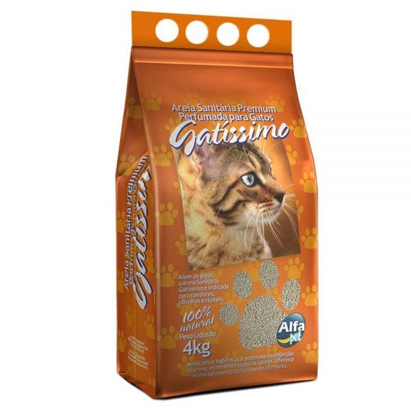 Areia Higiênica Perfumada Para Gatos – Gatíssimo 4 Kg Alfa Pet