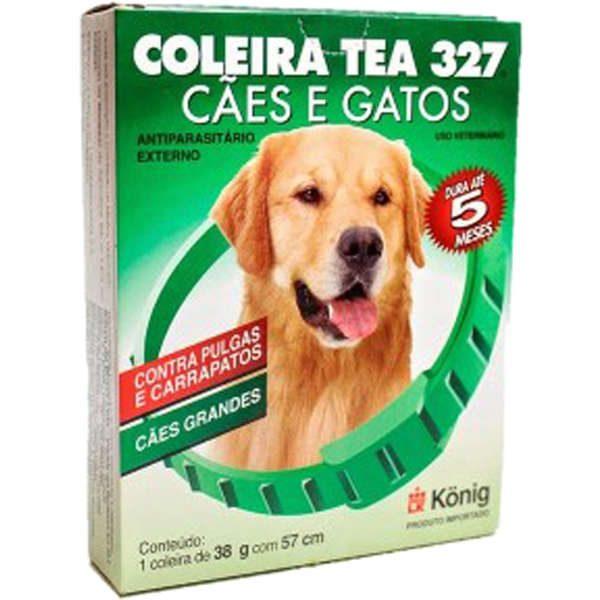 Coleira Antiparasitária Externo 57 cm para Cachorros