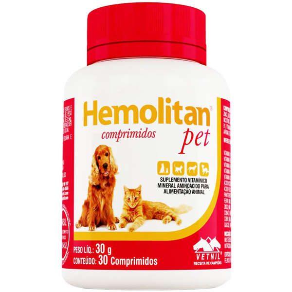 Suplemento Vetnil Hemolitan Pet – 30 comprimidos