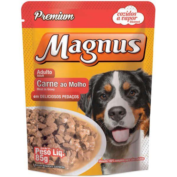 Sachê Magnus Premium Carne ao Molho para Cães Adultos