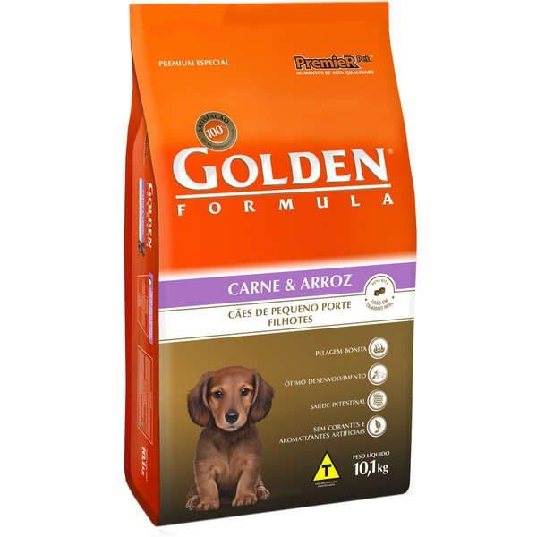 Ração Golden Formula Carne e Arroz para Cães Filhotes de Raças Pequenas 3kg