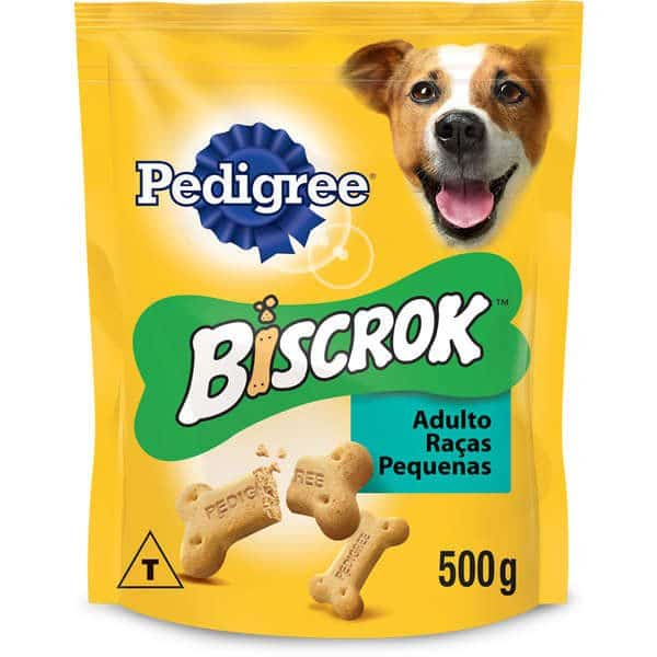 Biscoito Pedigree Biscrok para Cães Adultos de Raças Pequenas 500g