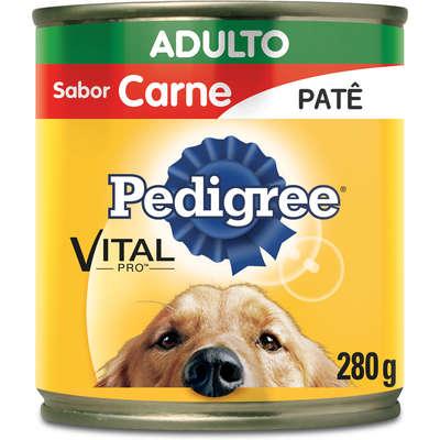 Ração Úmida Pedigree Lata Patê de Carne para Cães Adultos – 280 g
