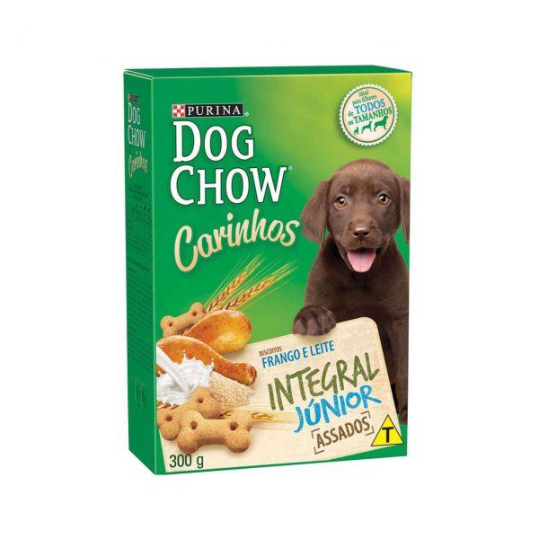 Petisco Nestlé Purina Dog Chow Carinhos Integral Júnior Frango para Cães Filhotes – 300 g