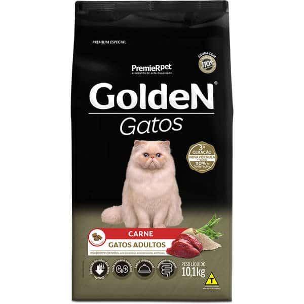 Ração Golden Gatos Adultos Carne 1kg