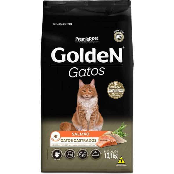 Ração Golden Gatos Adultos Castrados Salmão 1 kg