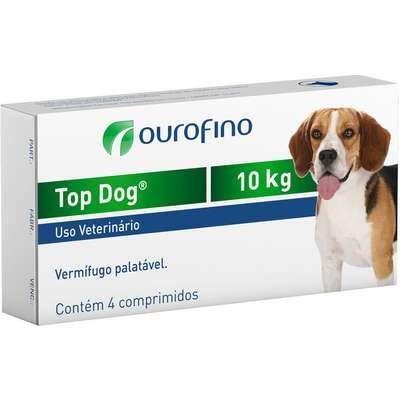 Vermifugo Ouro Fino Top Dog para Cães de até 10 Kg (cada comprimido )
