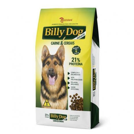 Ração Billy Dog Natural Carne e Cereais Nutridani para Cães Adultos 25kg