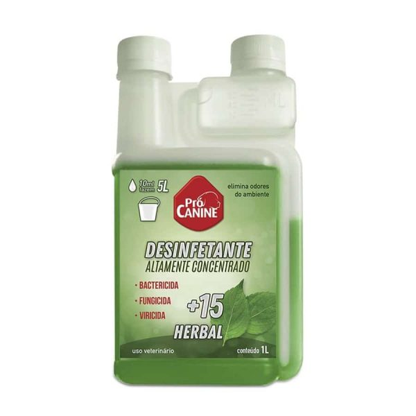 Desinfetante PróCanine + 15 Herbal 1L