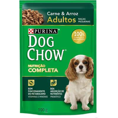 Ração Nestlé Purina Dog Chow Adultos Raças Pequenas Sachê Carne e Arroz