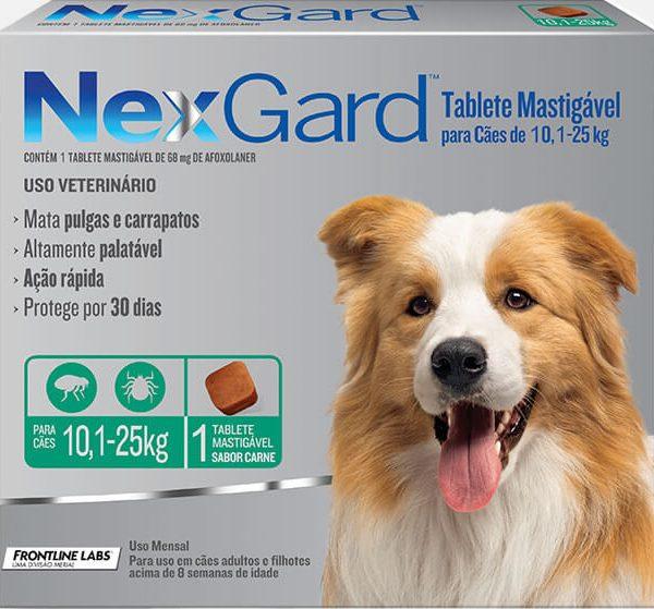 Nexgard – 10 a 25Kg – 1 Tablete Mastigável