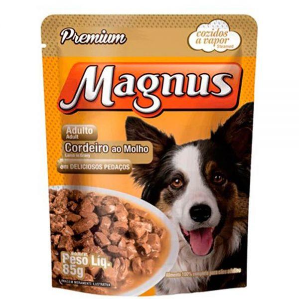 Magnus Sachê Premium Cães Adultos Cordeiro ao Molho 85g