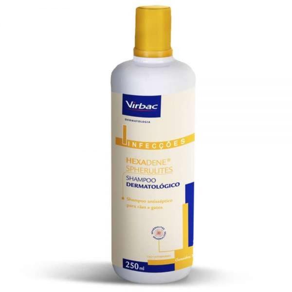 Shampoo Dermatológico Hexadene Spherulites Para Cães E Gatos – 250 Ml