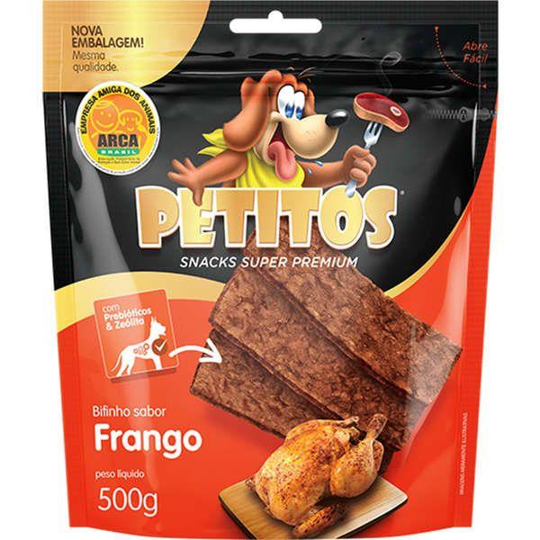 Bifinho Petitos Sabor Frango para Cães 500g