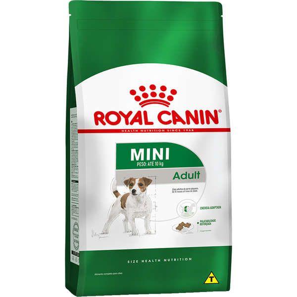 Ração Royal Canin Mini Adult para Cães Adultos de Raças Pequenas com 10 Meses ou mais de Idade 1 kg