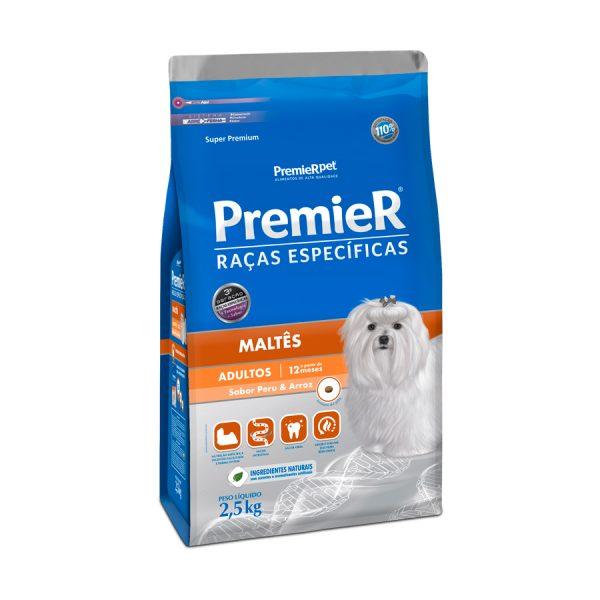Ração Premier Raças Específicas Maltês para Cães Adultos 2,5kg