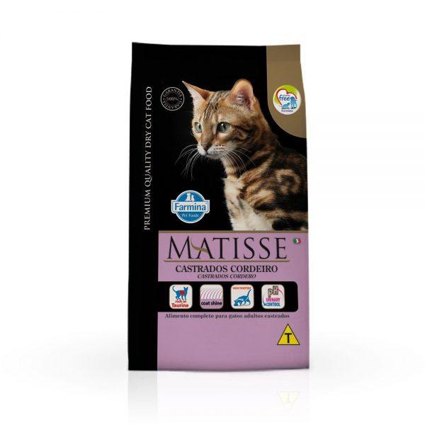 Ração Matisse Gatos Adultos Castrados Sabor Cordeiro – 2kg