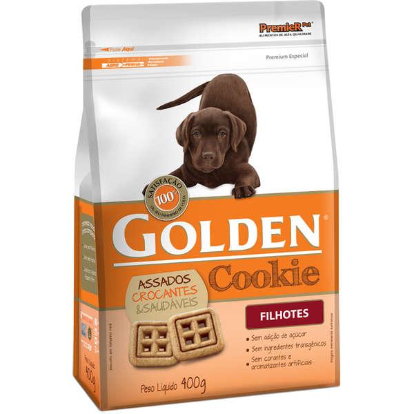 Biscoito Premier Pet Golden Cookie para Cães Filhotes 400gr