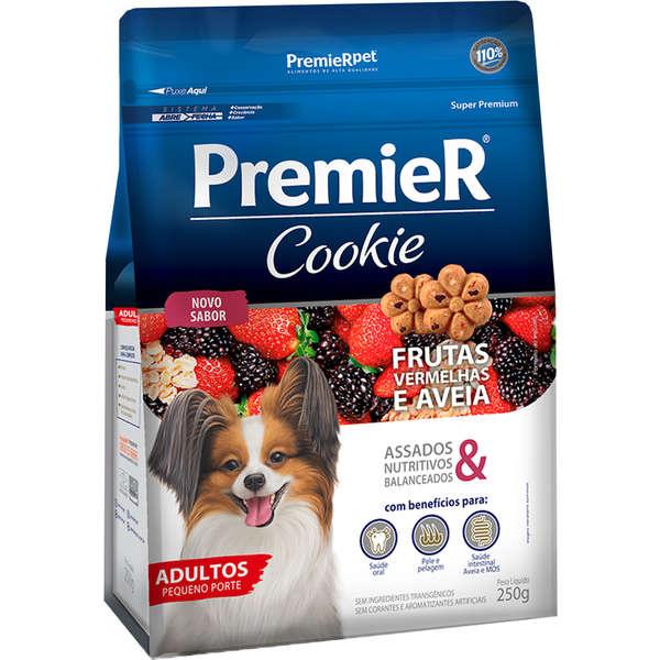 Biscoito Premier Pet Cookie Frutas Vermelhas e Aveia para Cães Adultos 250mg