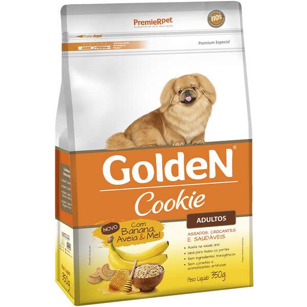 Biscoito Premier Pet Golden Cookie Banana Aveia e Mel para Cães Adultos 350gr