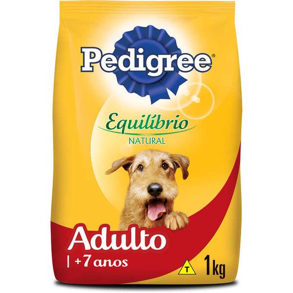 Ração Pedigree Equilíbrio Natural para Cães Adultos com mais de 7 Anos 1 kg