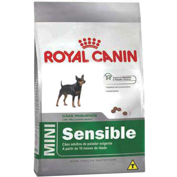 Ração Royal Canin Mini Sensible para Cães Adultos de Raças Pequenas de Paladar Sensível 1kg