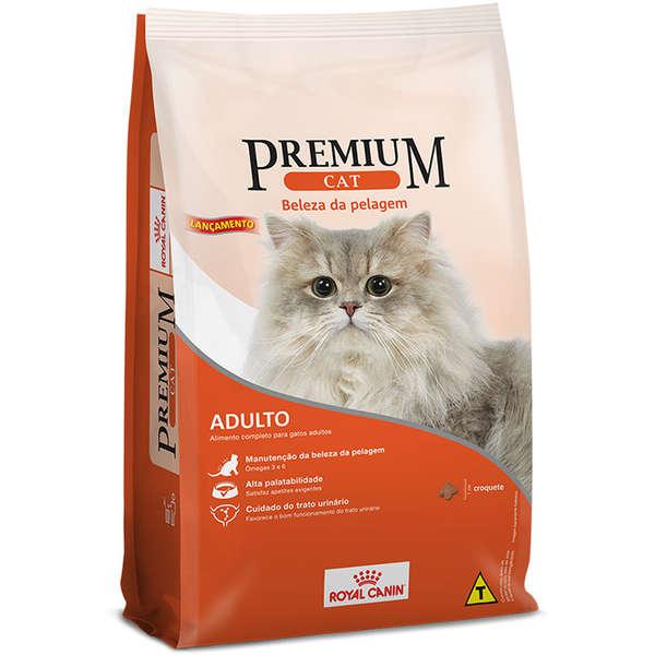 Ração Royal Canin Premium Cat Beleza da Pelagem para Gatos Adultos 1 kg