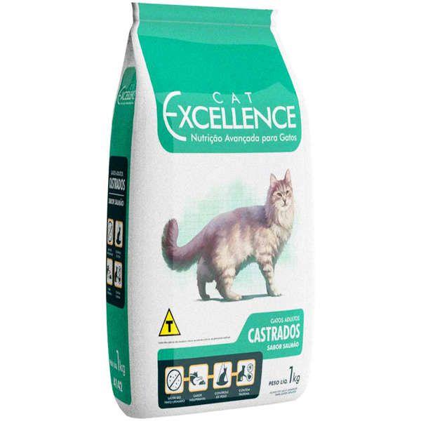 Ração Cat Excellence Salmão para Gatos Adultos Castrados 1 kg