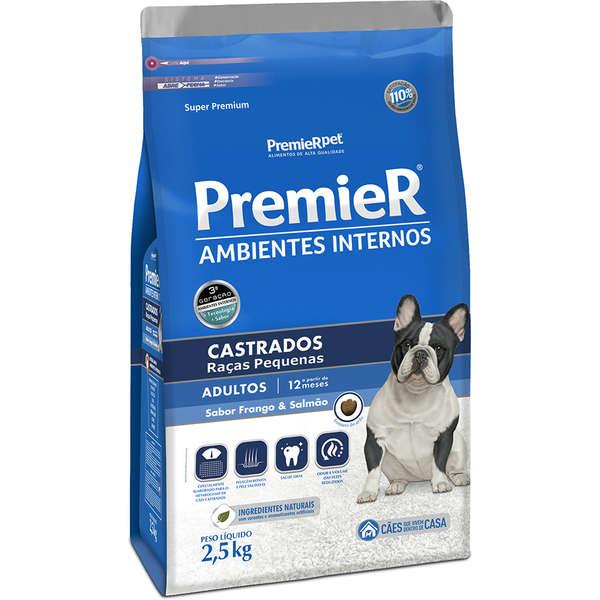 Ração Premier Pet Ambiente Interno Cães Castrados adultos 2,5kg