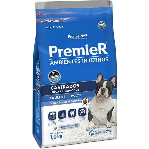 Ração Premier Pet Ambiente Interno Cães Castrados 1kg